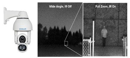 Slika 1. Moćan objektiv za zumiranje i infracrvena tehnologija kamere Avigilon H4 IR PTZ omogućavaju korisnicima da prate događanja i do 250 metara u potpunom mraku